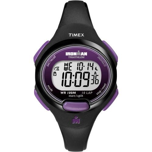 T5K523JV Timex IRONMAN 10-Lap Digital Watch Mid-Size Purple/Black