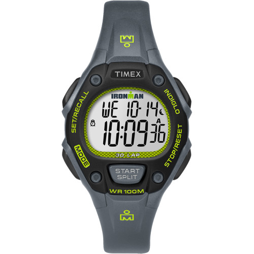 TW5M14000JV - Timex IRONMAN® Classic 30 Mid-Size Watch - Grey/Lime/Black