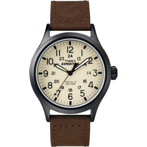 T49963JV Timex Expedition Analog Scout Metal Watch - Brown
