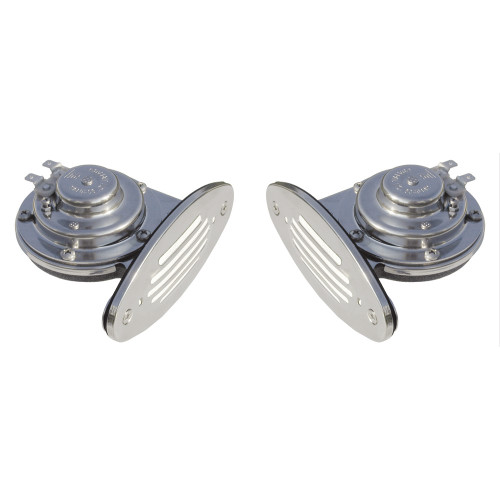 10055 - Ongaro Mini Dual Drop-In Horn w/SS Grills High & Low Pitch