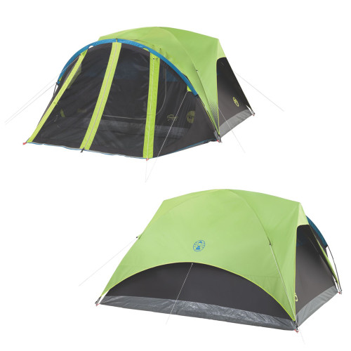 2000033189 - Coleman Carlsbad 4-Person Darkroom Tent w/Screen Room