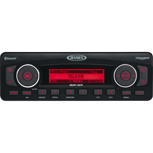 HD1BT - JENSEN HD1BT AM/FM/BT/XM Plug n Play Replacement Stereo for Harley Davidson