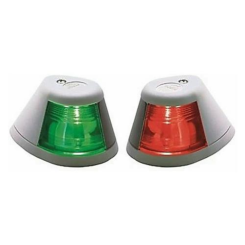 0253W00DP1 Perko 12V Red/Green Incandescent Side Lights Pair Horizontal Mount White