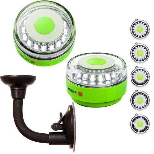 010KIT2 - Navisafe Portable Navilight 360° 2NM Rescue - Glow In The Dark - Green w/Bendable Suction Cup Mount