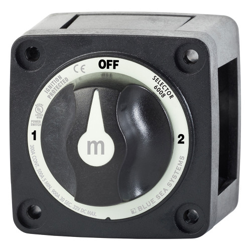 6008200 Blue Sea 6008200 m-Series Selector 3 Position Battery Switch - Black