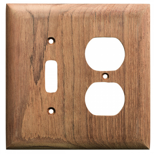 60178 Whitecap Teak Toggle Switch/Duplex/Receptacle Cover Plate