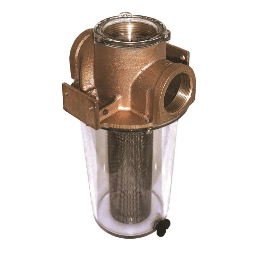 "ARG-1250-S GROCO ARG-1250 Series 1-1/4"" Raw Water Strainer w/Stainless Steel Basket"