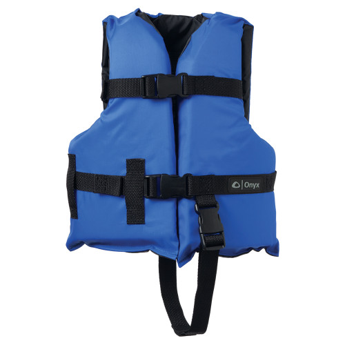 103000-500-001-12 Onyx Nylon General Purpose Life Jacket - Child 30-50lbs - Blue