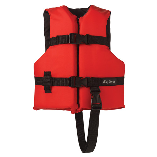 103000-100-001-12 Onyx Nylon General Purpose Life Jacket - Child 30-50lbs - Red