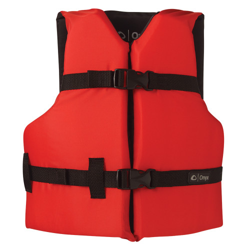 103000-100-002-12 Onyx Nylon General Purpose Life Jacket - Youth 50-90lbs - Red