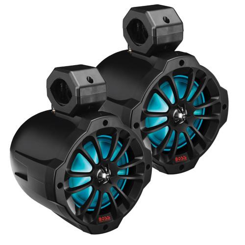 "B62RGB Boss Audio 6.5"" Amplified Wake Tower Multi-Color Illuminated Speakers - Black"