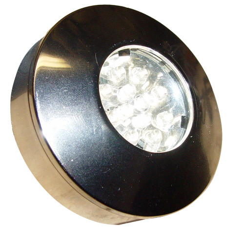 16520-7 Aqua Signal Bamako Round LED Headliner Light - Recessed/Surface Mount - Chrome/Plastic Housing