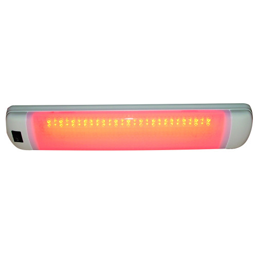16530-7 Aqua Signal Maputo Rectangular Multipurpose Interior Light w/Rocker Switch - Red/White LED