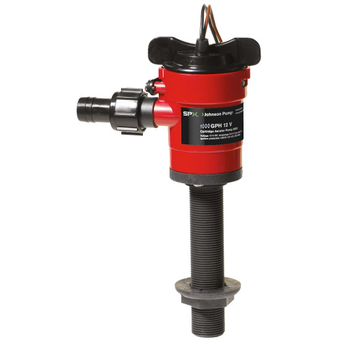 28103-00 - Johnson Pump Cartridge Aerator 1000 GPH Straight Intake - 12V