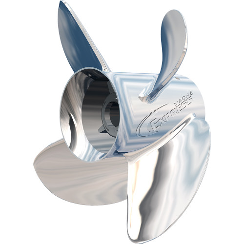 """31501340 Turning Point Express Mach4 Left Hand Stainless Steel Propeller - EX-1513-4L - 4-Blade - 15.3"""" x 13"""""""