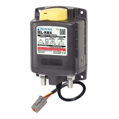 7713100 Blue Sea 7713100 ML-RBS Remote Battery Switch w/Manual Control Auto Release & Deutsch Connector - 12V