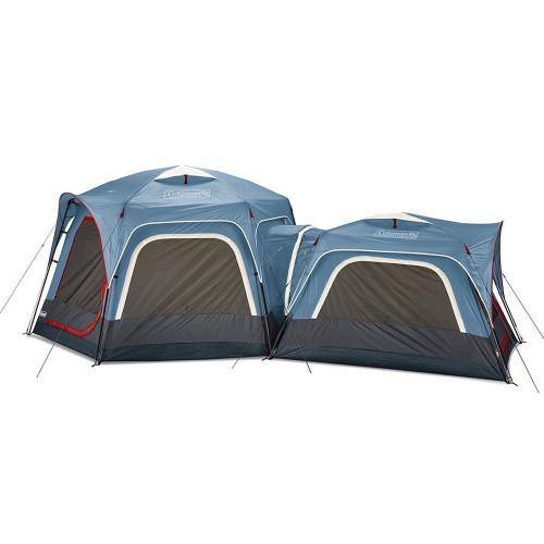 2000033782 Coleman 3-Person & 6-Person Connectable Tent Bundle w/Fast Pitch Setup - Set of 2 - Blue