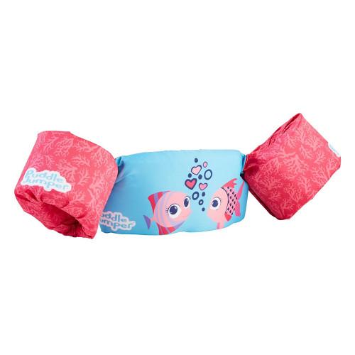 3000005713 Puddle Jumper Kids Life Jacket - Coral Fish - 30-50lbs