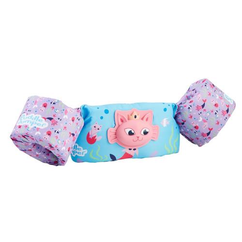 3000005715 Puddle Jumper Kids Life Jacket - 3D Cat Mermaid - 30-50lbs