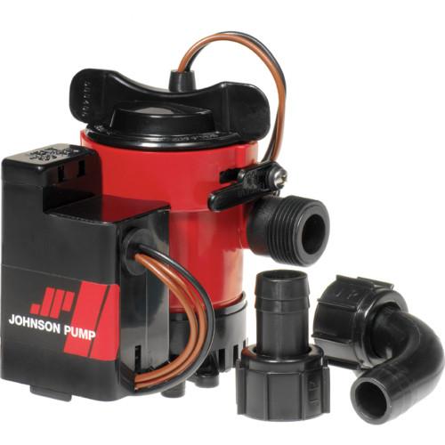 05903-00 - Johnson Pump Cartridge Combo 1000GPH Auto Bilge Pump w/Switch - 12V