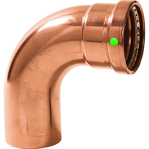 "20638 Viega ProPress XL 2-1/2"" - 90 Degree Copper Elbow - Street/Press Connection - Smart Connect Technology"