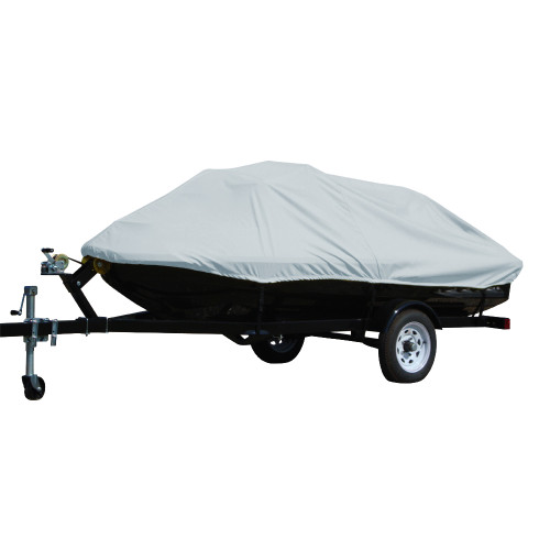 "4002P-10 Carver Performance Poly-Guard Styled-to-Fit Cover f/2-3 Seater Personal Watercrafts 124"" X 48"" X 44"" - Grey"