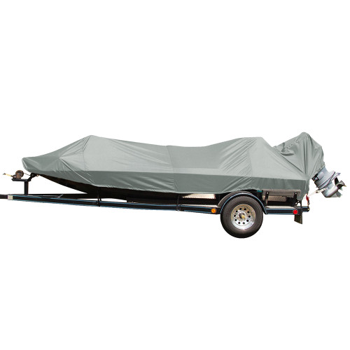 77815P-10 Carver Performance Poly-Guard Styled-to-Fit Boat Cover f/15.5 Jon Style Bass Boats - Grey