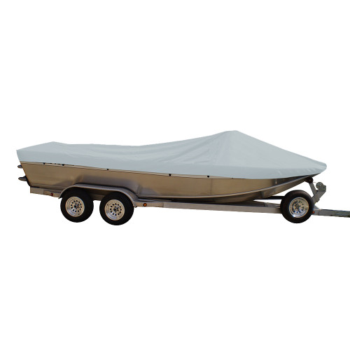 79120XP-10 Carver Performance Poly-Guard Extra Wide Series Styled-to-Fit Boat Cover f/20.5 Sterndrive Aluminum Boats w/High Forward Mounted Windshield - Grey