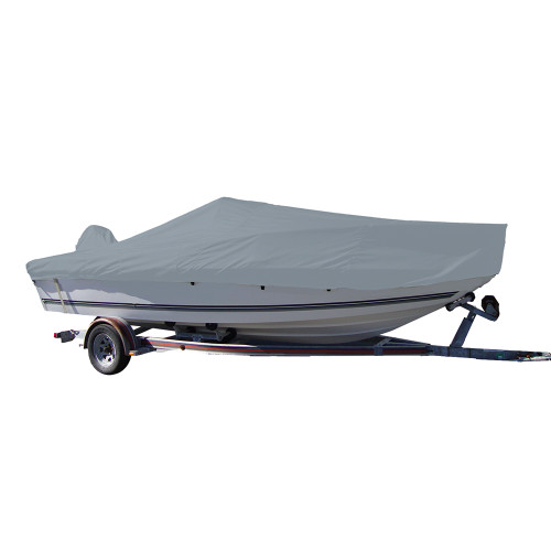 70025P-10 Carver Performance Poly-Guard Styled-to-Fit Boat Cover f/25.5 V-Hull Center Console Fishing Boat - Grey