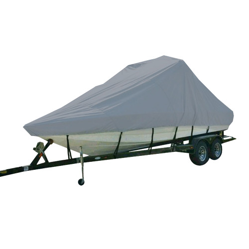 81123P-10 Carver Performance Poly-Guard Specialty Boat Cover f/23.5 Inboard Tournament Ski Boats w/Tower & Swim Platform - Grey