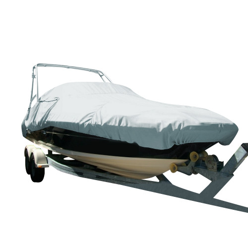 96122P-10 Carver Performance Poly-Guard Specialty Boat Cover f/22.5 Sterndrive Deck Boats w/Tower - Grey