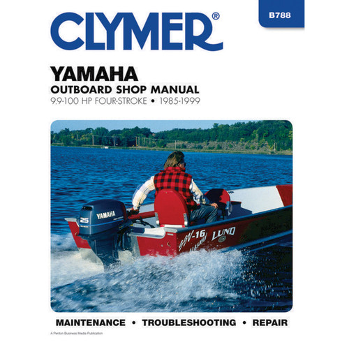 B788 Clymer Repair Manual For Yamaha Outboards (6-100 HP 4-Stroke) - 1985-2013