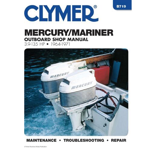 B719 Clymer Repair Manual For Mercury Outboards (3.9-135 HP) - 1964-1971