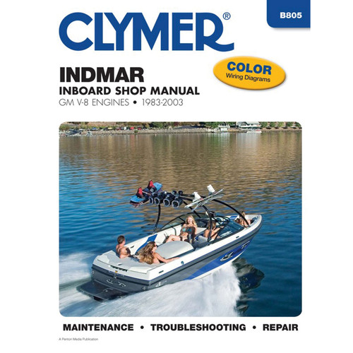 B805 Clymer Repair Manual For Indmar GM V-8 Inboard Engines (Includes LT-1) - 1983-2003