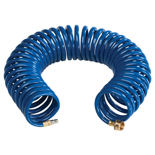 CRD-COIL-BLU-HS Empire Brass Blue Coiled Extension Hose For Quick Disconnect Valves - 15'