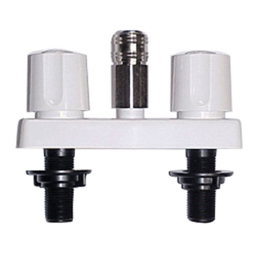 """PF213247 Phoenix Faucets by Valterra Plastic Dual Handle 4"""" Faucet with Quick Connect - White"""