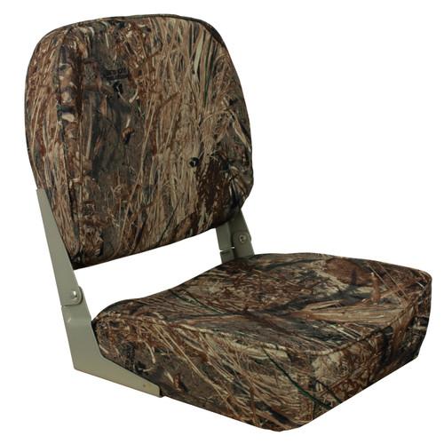 1040627 Springfield Marine Low Back Folding Seat - Mossy Oak Duck Blind
