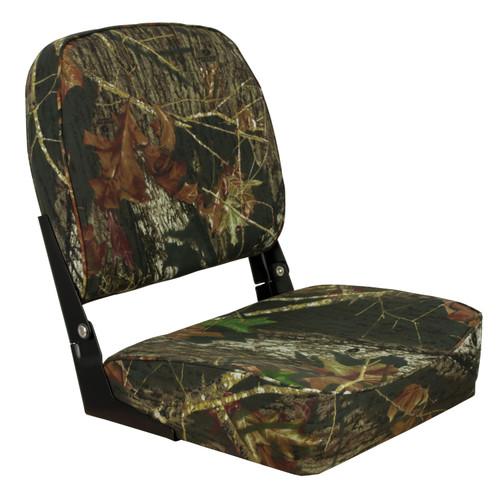 1040626 Springfield Marine Low Back Folding Seat - Mossy Oak Break-Up
