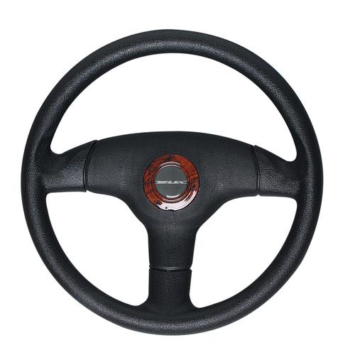 V60BRC Uflex Antigua Steering Wheel - Black with Burlewood