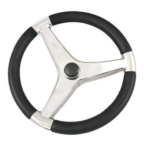 """7241321FG - Ongaro Evo Pro 316 Cast Stainless Steel Steering Wheel - 13.5""""Diameter"""