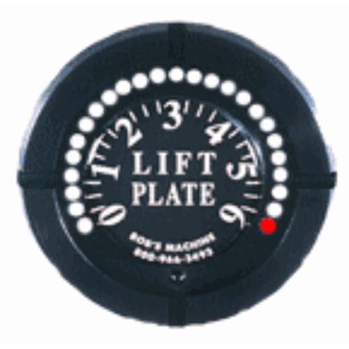 110-301000 Bob's Machine Action Lift Plate LED Gauge - Black