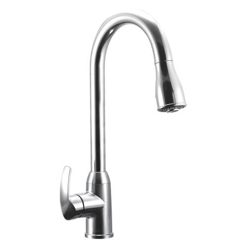 DF-NMK508-CP Dura Faucet Single Handle Pull-Down RV Kitchen Faucet - Chrome