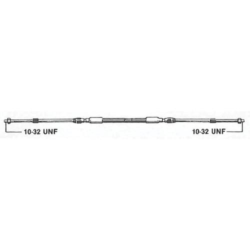 C2X16 Uflex Engine Control Cable - 3300 Style, 16'
