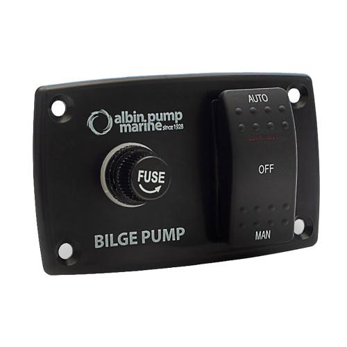 01-66-027 Albin Pump 3-Way Bilge Panel - 12/24V
