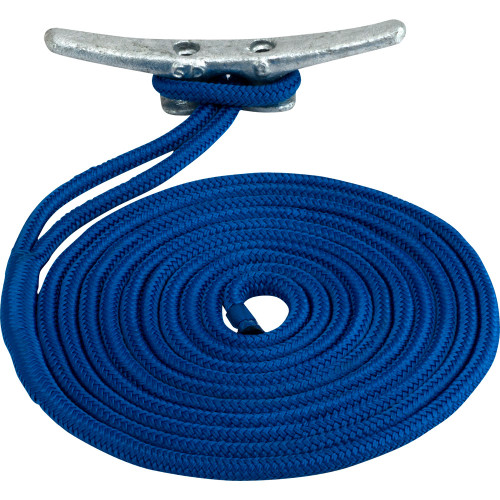 "302112025BL-1 Sea-Dog Double Braided Nylon Dock Line - 1/2"" x 25' - Blue"