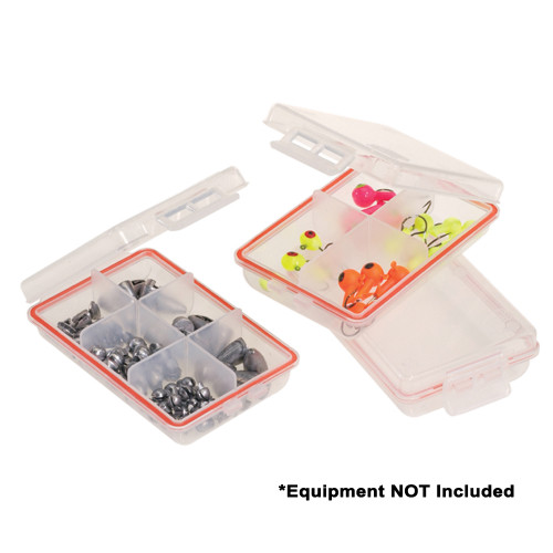 106100 Plano Waterproof Terminal 3-Pack Tackle Boxes - Clear