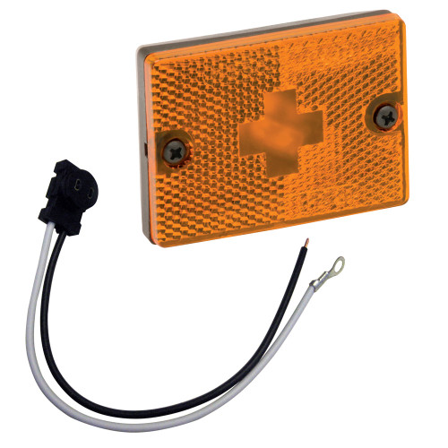 """203117 Wesbar Sidemarker Clearance Light w/18"""" Pigtail - Amber"""