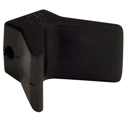 """29552 C.E. Smith Bow Y-Stop - 2"""" x 2"""" - Black Natural Rubber"""