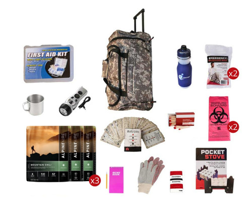 Food Storage Survival Kit CAMO Wheel Bag FSEK||CAMO Wheel Bag