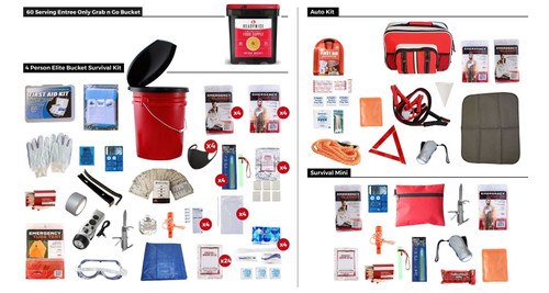 Family Preparedness Package With Food Storage PPK4